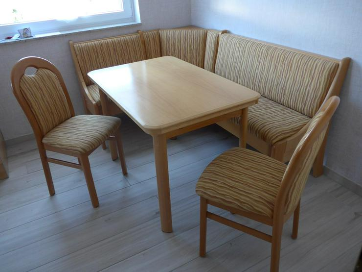 Essecke, Eckbank Esstisch und 2 Stühle