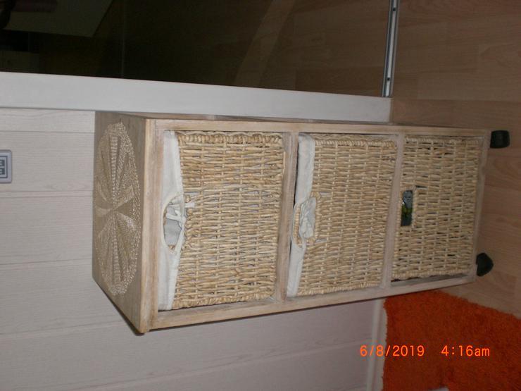 Nachttisch Schubladenschrank braun Badkommode Kommodenschrank Korb Regal - Weitere - Bild 1