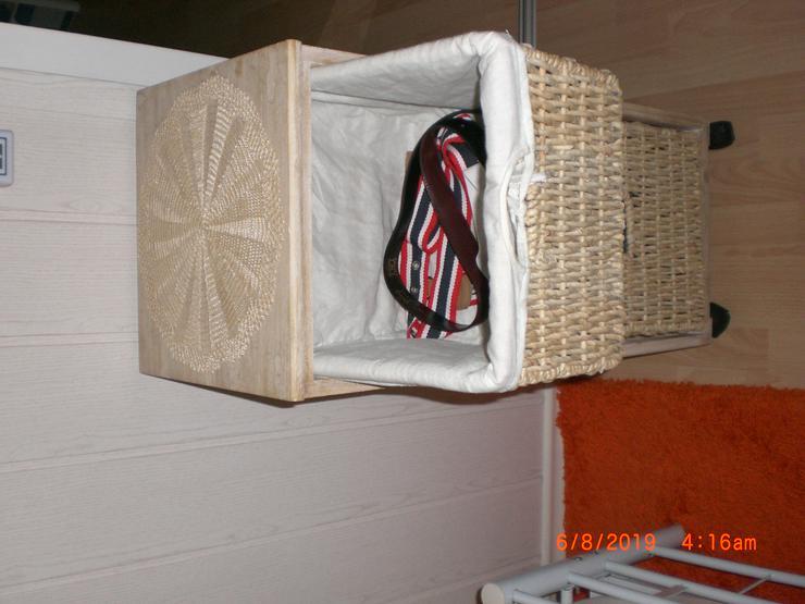 Bild 3: Nachttisch Schubladenschrank braun Badkommode Kommodenschrank Korb Regal