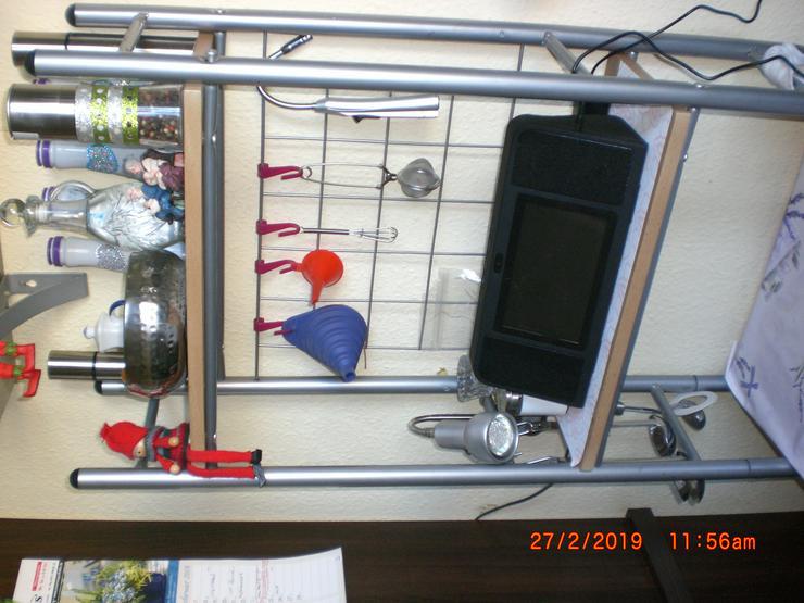 Bild 2: Bartisch Stehtisch Tresen Frühstückstheke mit Regal