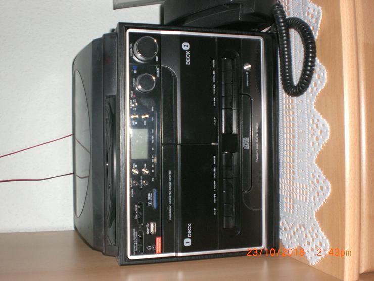 Kompaktanlage  mit integrierter Encoding-Funktion Platte Plattenspieler CD RADIO Kassette (4026411469263) - Stereoanlagen & Kompaktanlagen - Bild 1
