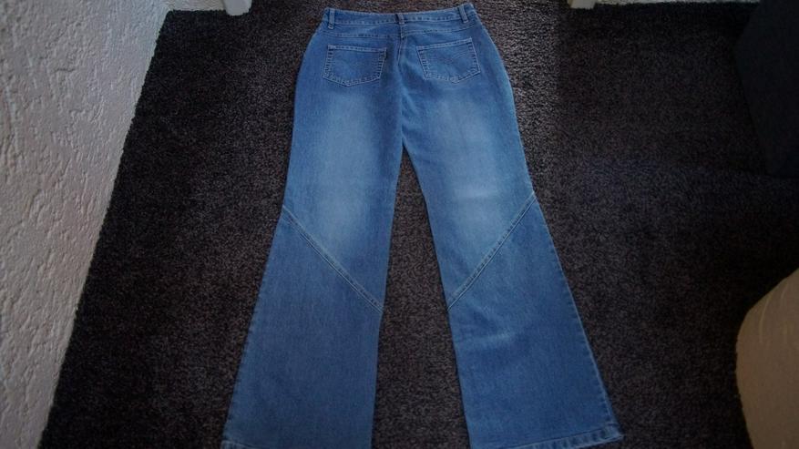 Bild 4: Jeans m. Perlen, Gr. 38L32, Kenny S., stone