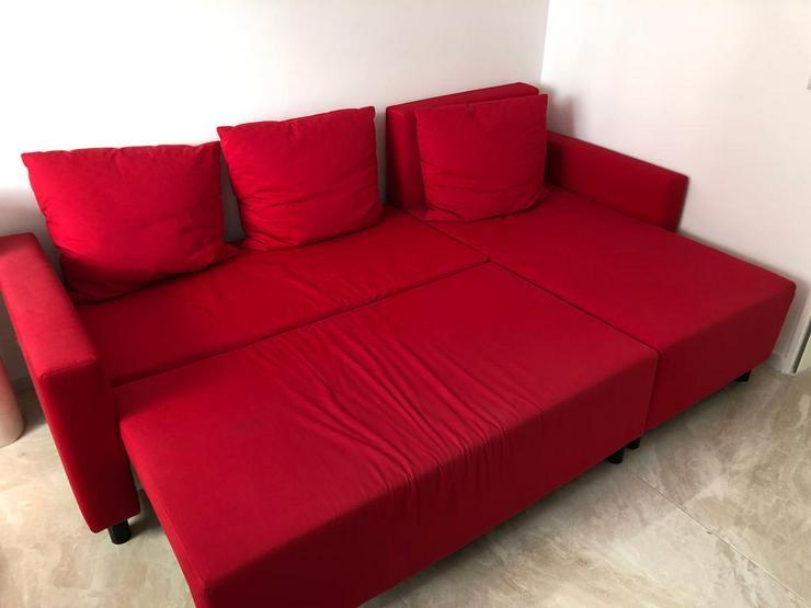 Bild 2: Traumhafte Rote Ecksofa mit Schlaffunktion