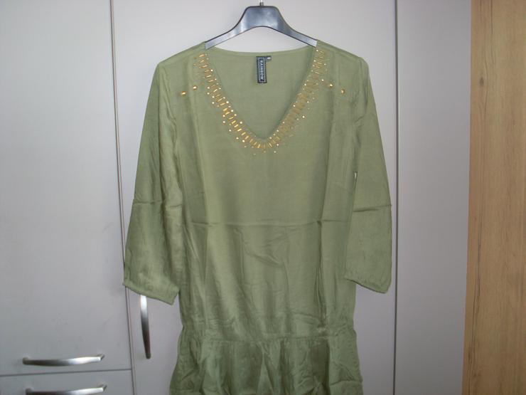 Bild 4: NEU: Damen Kleid - Überzieher  Gr. 40 in grün mit  Pailetten 3/4 Arm