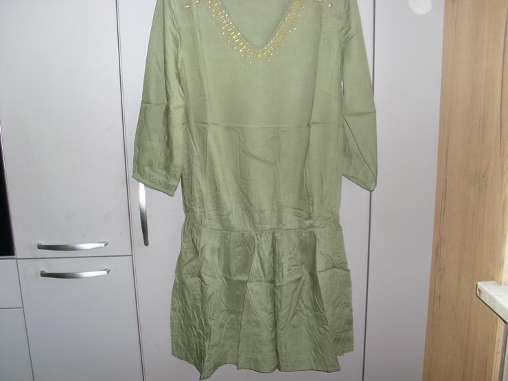 Bild 5: NEU: Damen Kleid - Überzieher  Gr. 40 in grün mit  Pailetten 3/4 Arm