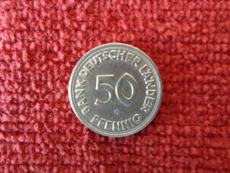 die ORIGINAL-Fehlprägung 50 Pfennig BANK DEUTSCHER LÄNDER 1950 G (Karlsruhe)