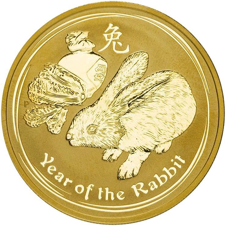 Australien 5 Dollar Hase 2011 Lunar II Gold münze