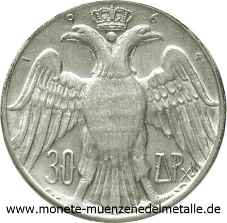 Griechenland 30 Drachmen 1964 konstantin II Silber Münze - Münzen - Bild 1