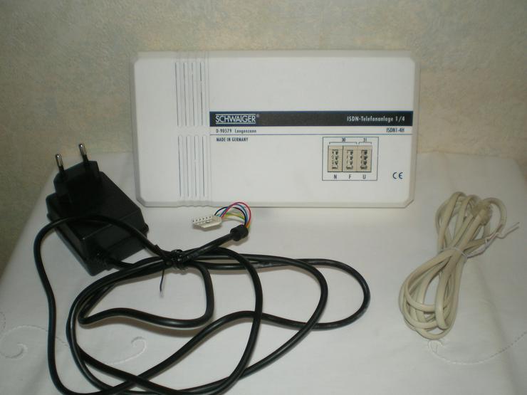 Schwaiger ISDN-Telefonanlage, ISDN PC-Karte, Zubehör