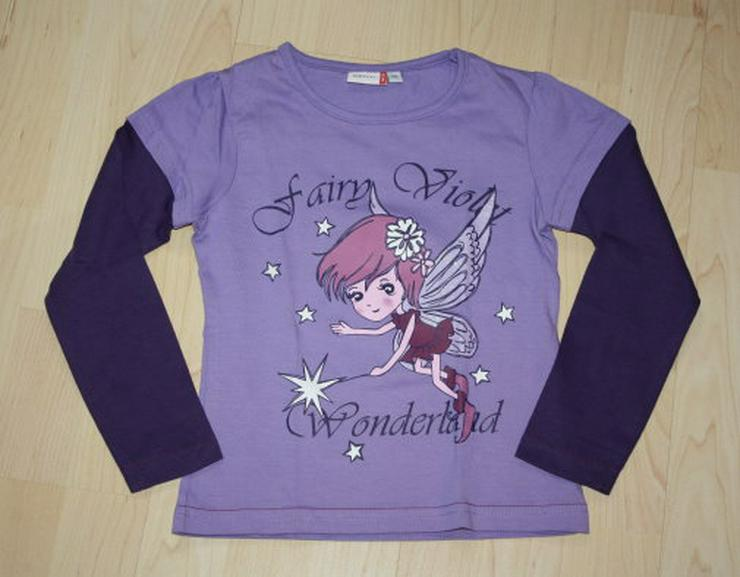 Mädchen Pullover Fee Kinder Langarm Sweatshirt lila 116 NEU