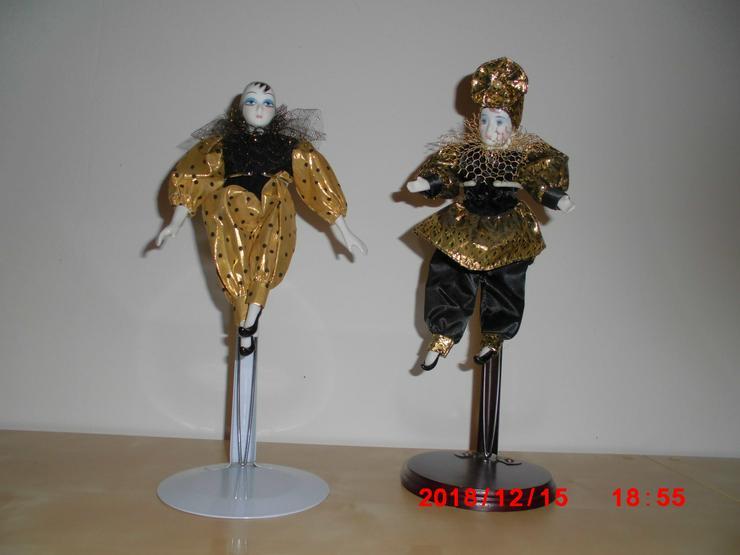 2 große Deko-Puppe ca. 25 cm mit Ständer 28-35 cm verstellbar