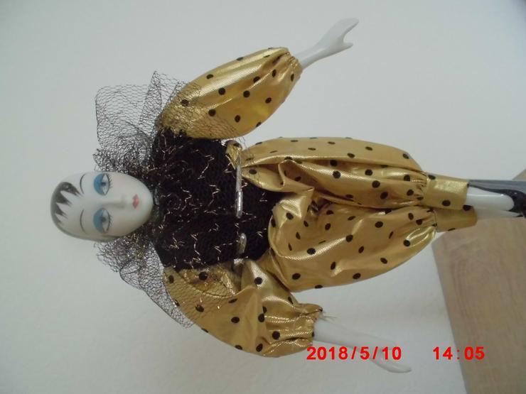 2 große Deko-Puppe ca. 25 cm mit Ständer 28-35 cm verstellbar - Dekoration - Bild 1