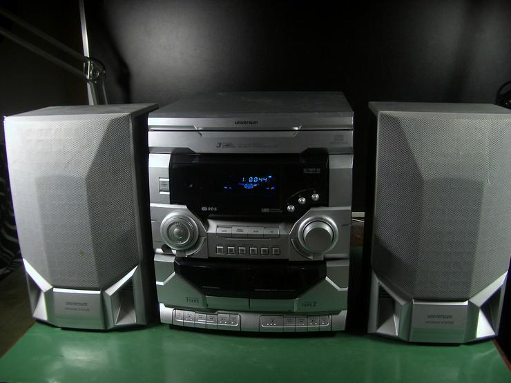 Kompakt Stereoanlage Universum VTC-CD 4043, 3 fach CD- Wechsler, 2 Kassettendecks, RDS Tuner, 2-Wege-Bassreflexboxen
