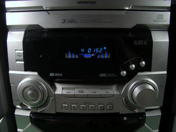 Bild 2: Kompakt Stereoanlage Universum VTC-CD 4043, 3 fach CD- Wechsler, 2 Kassettendecks, RDS Tuner, 2-Wege-Bassreflexboxen