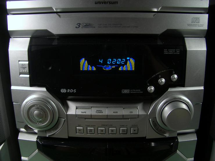 Bild 4: Kompakt Stereoanlage Universum VTC-CD 4043, 3 fach CD- Wechsler, 2 Kassettendecks, RDS Tuner, 2-Wege-Bassreflexboxen