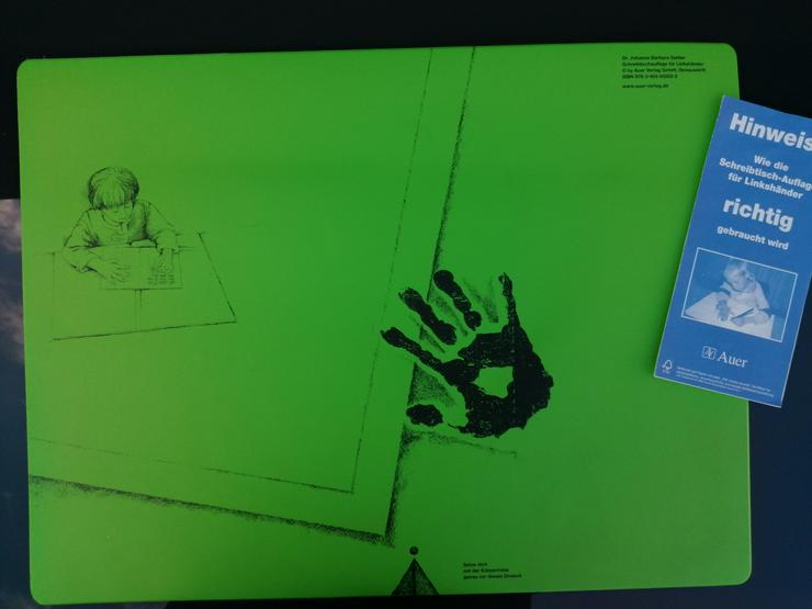 Schreibtischauflage für Linkshänder
