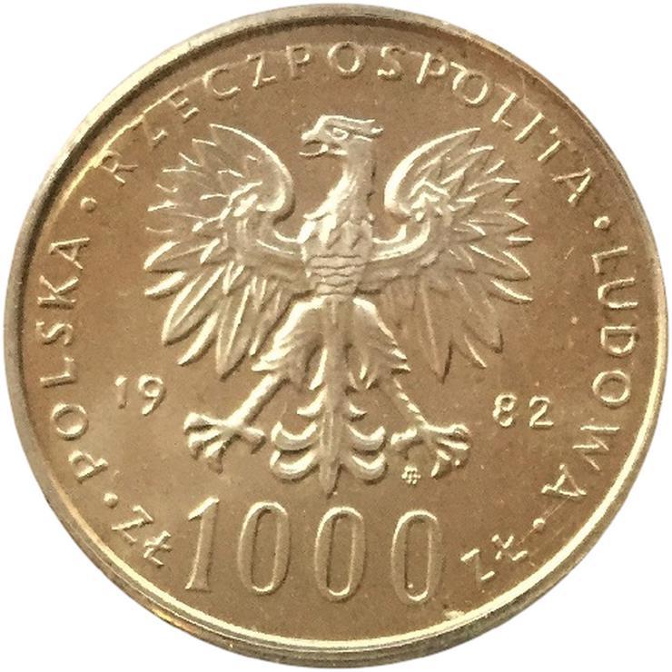 Bild 2: Polen 1000 Zlotych Papst Jahn Pawel II 1982 Silber Münze