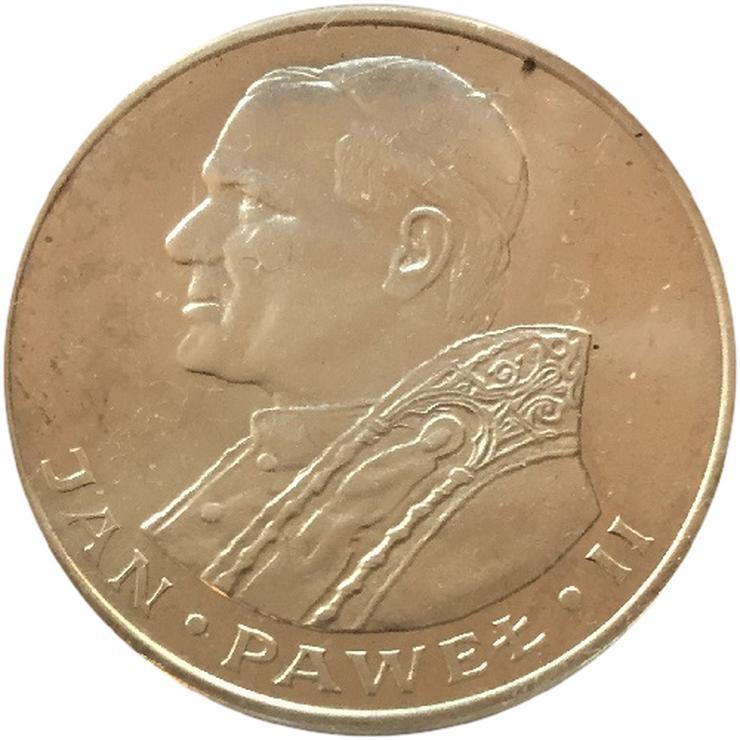 Polen 1000 Zlotych Papst Jahn Pawel II 1982 Silber Münze - Münzen - Bild 1
