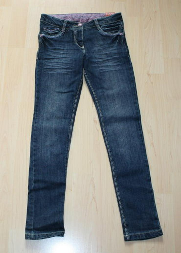 C&A Mädchen Jeans Hose Skinny Kinder Jeanshose blau 140 NEU