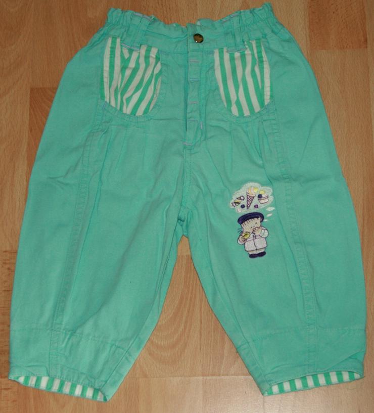 Grüne Baumwoll-Hose - Größe 68 - frische Farben - TOP-Zustand