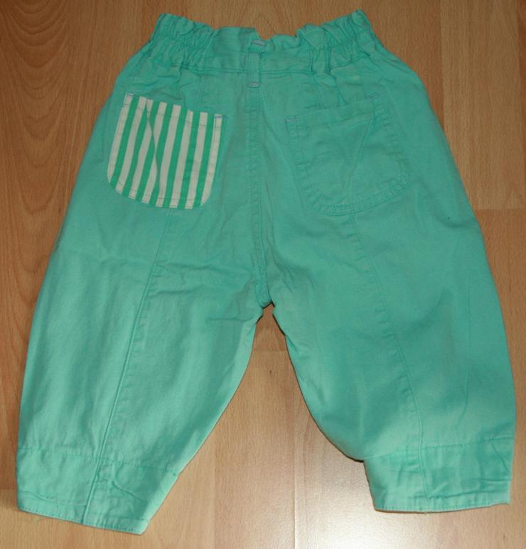 Bild 2: Grüne Baumwoll-Hose - Größe 68 - frische Farben - TOP-Zustand