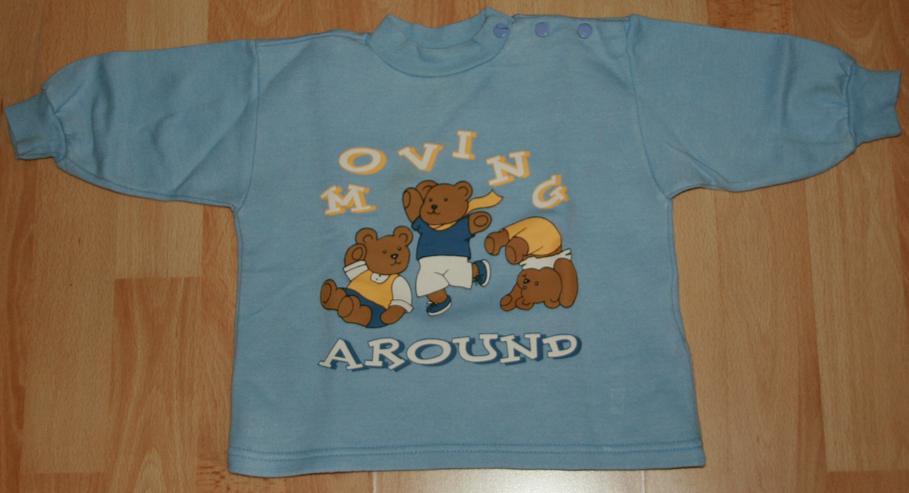 """Bild 3: SET - Blaues Sweatshirt & Hose - Größe 68 - 2teilig - """"Bären"""""""