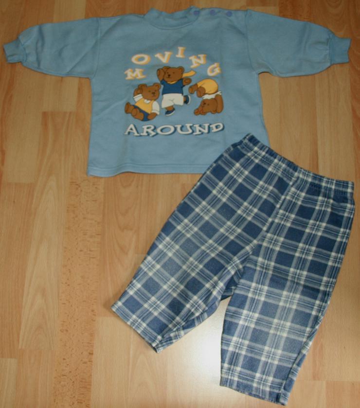"""SET - Blaues Sweatshirt & Hose - Größe 68 - 2teilig - """"Bären"""""""
