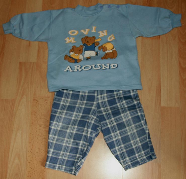 """Bild 2: SET - Blaues Sweatshirt & Hose - Größe 68 - 2teilig - """"Bären"""""""