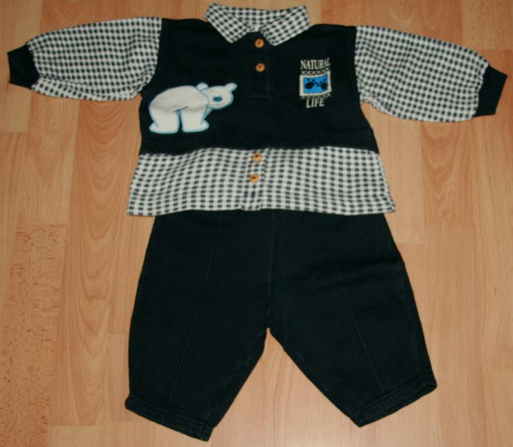 """Blauer Freizeit-Anzug - Größe 68 - Jogging-Anzug - """"Eisbär"""" - Kleidungspakete & Sets - Bild 1"""