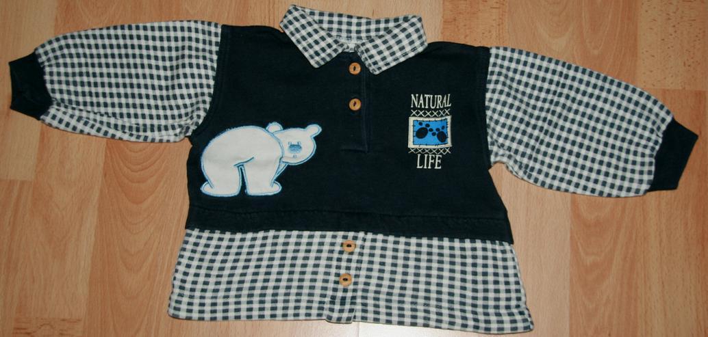 """Bild 3: Blauer Freizeit-Anzug - Größe 68 - Jogging-Anzug - """"Eisbär"""""""