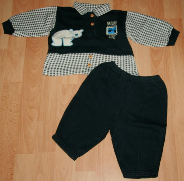 """Bild 2: Blauer Freizeit-Anzug - Größe 68 - Jogging-Anzug - """"Eisbär"""""""
