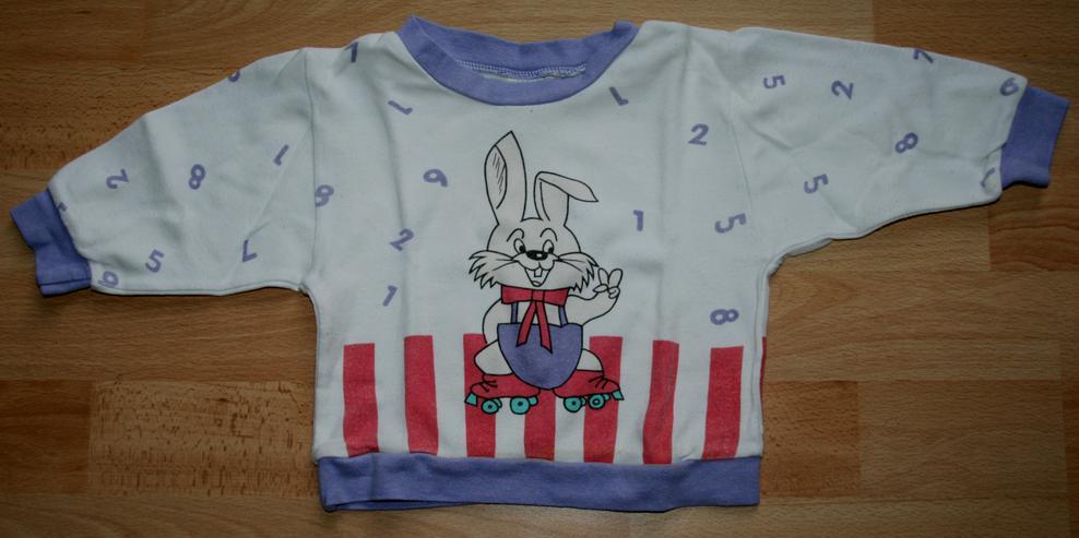 """Bild 3: Schlafanzug - Größe 68 - Pyjama - 2teilig - """"Hase und Zahlen"""""""