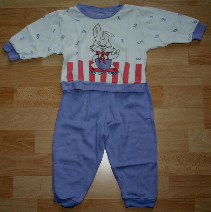 """Schlafanzug - Größe 68 - Pyjama - 2teilig - """"Hase und Zahlen"""""""