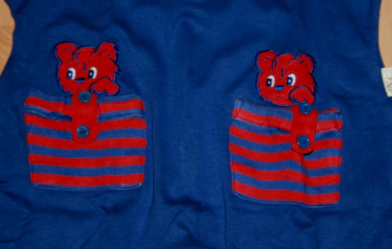 Bild 2: Blauer Strampler - Größe 68 - Strampel-Anzug - Overall - von KANZ