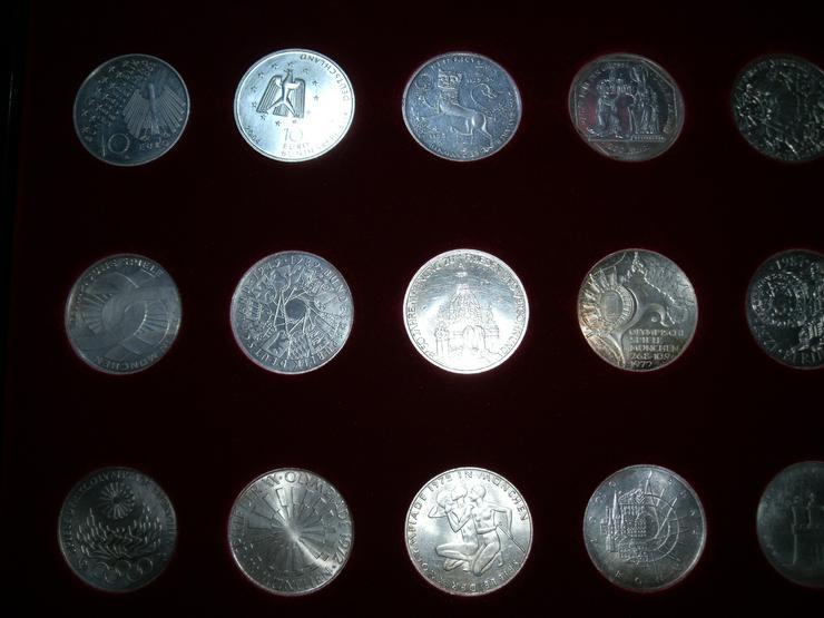 Bild 5: 10 DM 24 + 2 st 10 euro stück Gedenkmünze Verschiedene Silber.