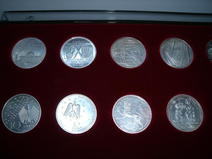 10 DM 24 + 2 st 10 euro stück Gedenkmünze Verschiedene Silber. - Deutsche Mark - Bild 2
