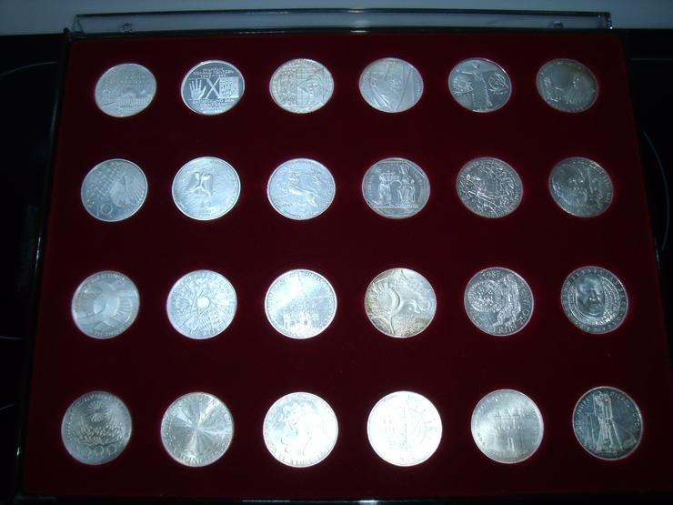 Bild 1: 10 DM 24 + 2 st 10 euro stück Gedenkmünze Verschiedene Silber.