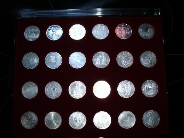 Bild 6: 10 DM 24 + 2 st 10 euro stück Gedenkmünze Verschiedene Silber.