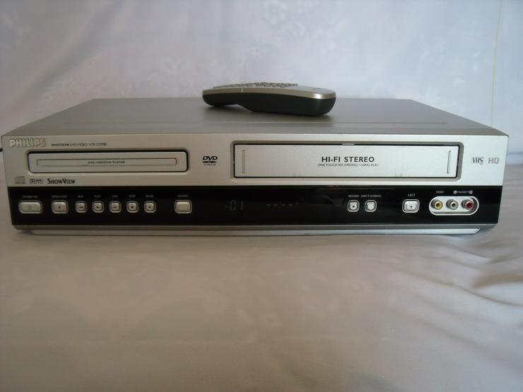 Bild 2: DVD / VHS-Rekorder von Philips 3055 mit FB wie neu Gute zust.