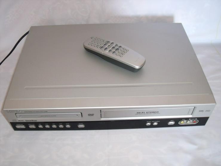 Bild 4: DVD / VHS-Rekorder von Philips 3055 mit FB wie neu Gute zust.