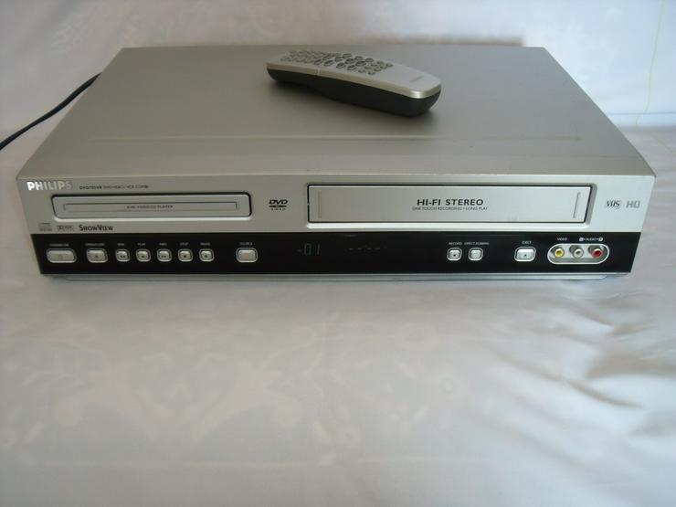 DVD / VHS-Rekorder von Philips 3055 mit FB wie neu Gute zust. - Video Recorder - Bild 1