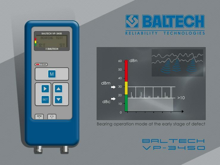 Bild 5: Medición de control de vibraciones-vibr gestionar BALTECH VP-3405-2