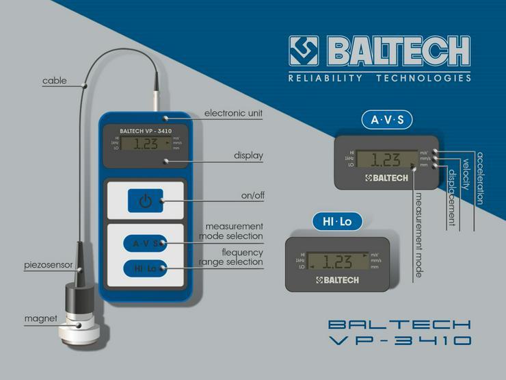 Bild 4: Medición de control de vibraciones-vibr gestionar BALTECH VP-3405-2
