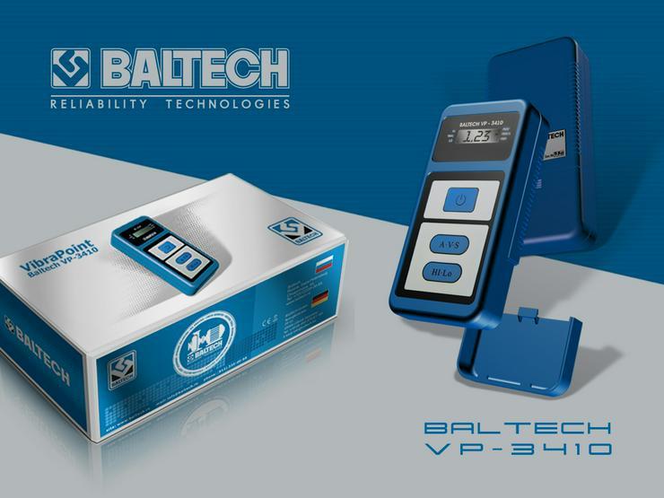 Bild 3: Medición de control de vibraciones-vibr gestionar BALTECH VP-3405-2