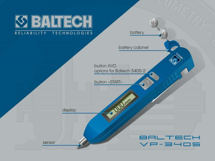 Medición de control de vibraciones-vibr gestionar BALTECH VP-3405-2 - Weitere - Bild 1