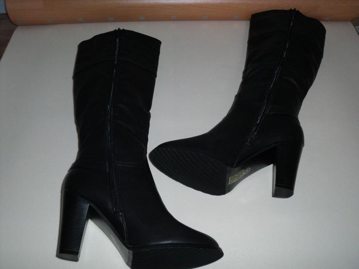 Damen Stiefel 38 Gr. Leder, Neu + Geschenk.