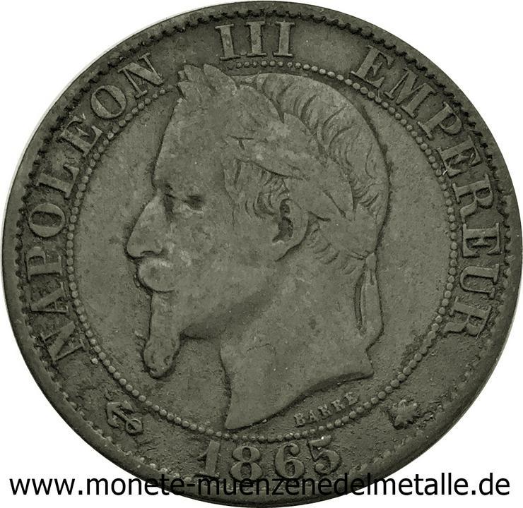 Bild 2: Frankreich 5 Centimes Napoleon III 1865