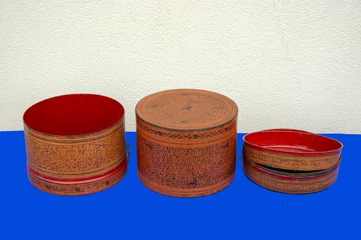 Bild 2: Indischer Reisbehälter, antik