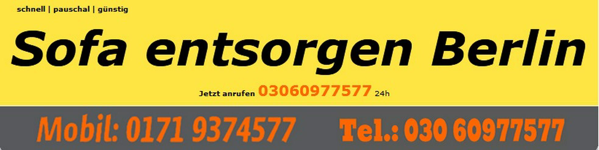Sofa entsorgen Berlin - Haushaltshilfe & Reinigung - Bild 1