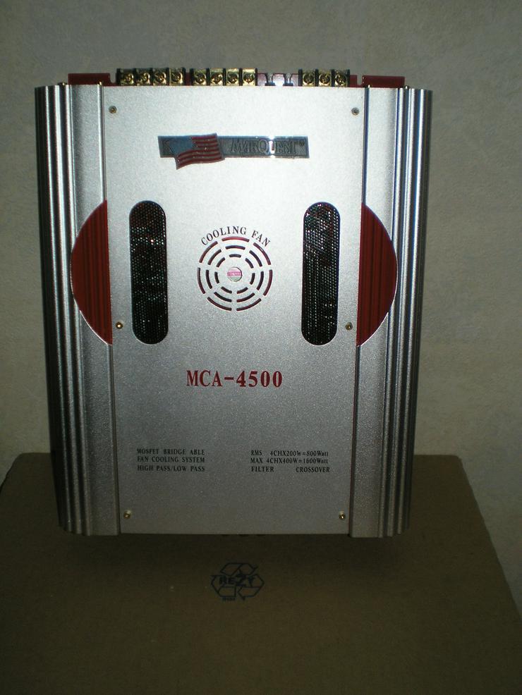 4-Kanal Endstufe 1600 Watt, Doppelbandpass 1000 Watt